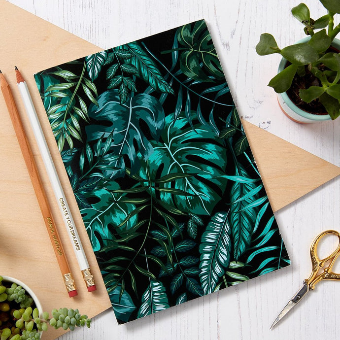 Botanical Black A5 48 pages Notebook