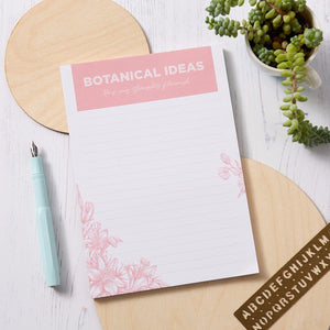 A5 Floral lined notepad