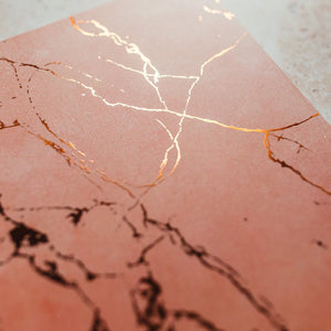 Close up Pink marble notebook
