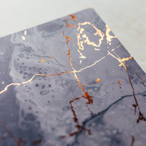 Close up Blue marble notebook