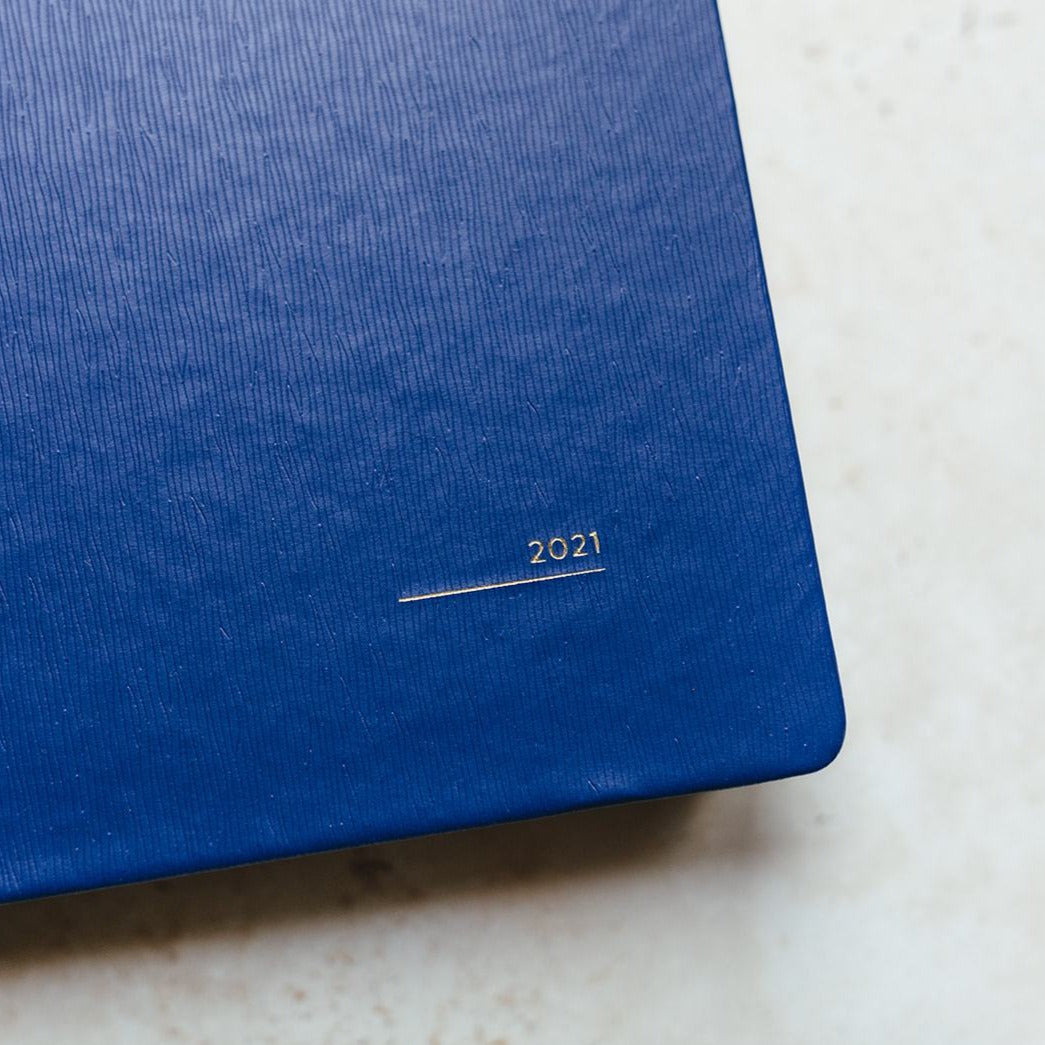 2021 A5 Blue Day to View Diary