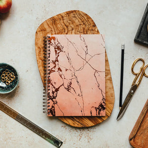 Pink marble and foil a5 notebook