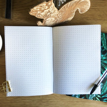 Botanical leaves White A5 48 pages Notebook