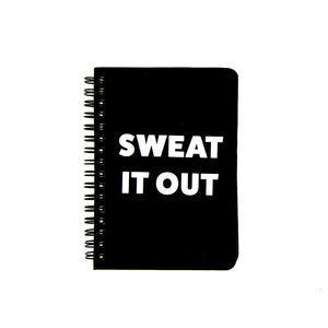 Hardback Gym Workout Fitness Journal - Black