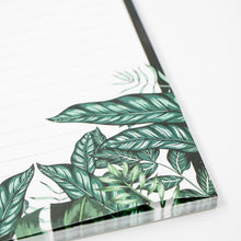A5 Botanical lined notepad