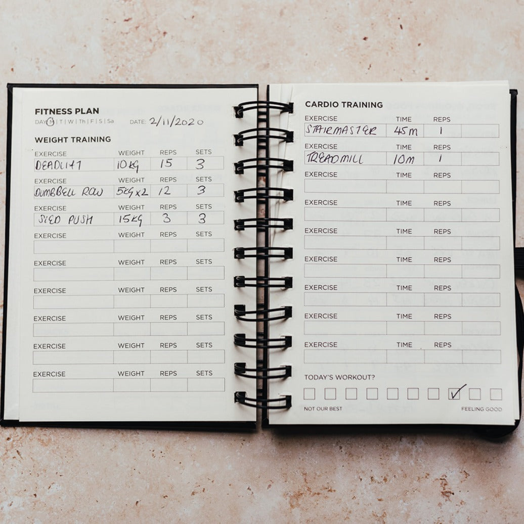 A6 Six Week Fitness Planner - Black