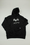 """Bloom"" CHAMPION Hoodie in Midnight Black - information-eater"