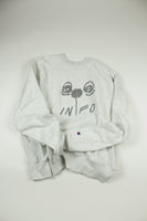"""Bloom"" CHAMPION Crew Neck in Silver Grey - information-eater"
