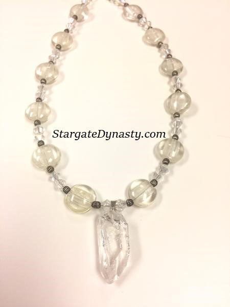QUARTZ CRYSTAL ICE NECKLACE