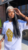 "GOLD ""POWER FIST"" T-SHIRT"