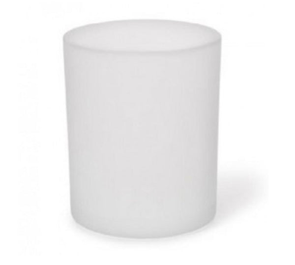 ROUND FROSTED VOTIVE CANDLE HOLDER