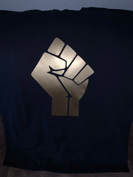 GOLD POWER FIST T-SHIRT