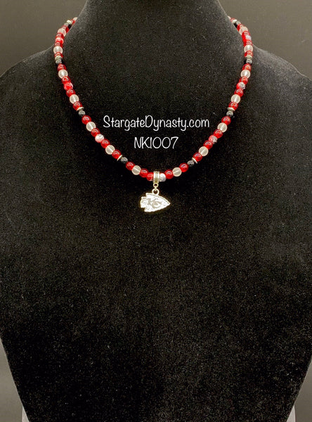 NK1007 KC CHIEFS ARROWHEAD NECKLACE