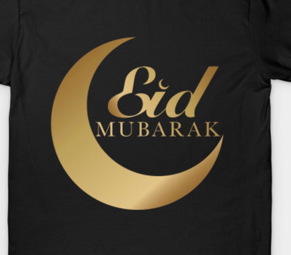 GOLD EID MUBARAK MOON T-SHIRT