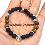 TIGER'S EYE PANTHER BRACELET