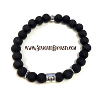 ARIES BLACK AND SILVER BRACELET