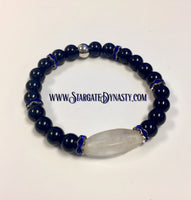 SMOKE AND BLUE STONE BRACELET