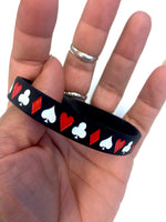 CARD SUITS SILICONE BRACELET