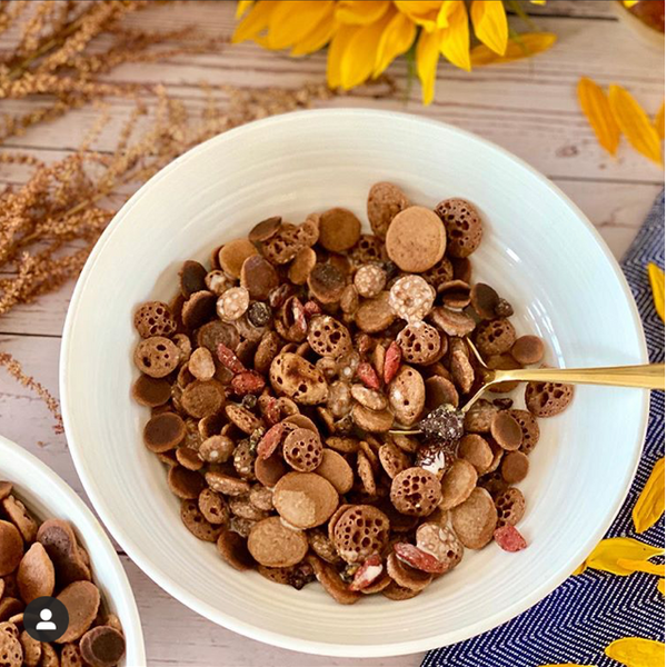 Vegan Chocolate Baby Pancake Cereal - By Sabina