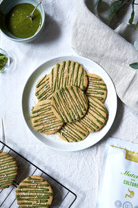 SHORTBREAD BISCUITS WITH MATCHA ICING