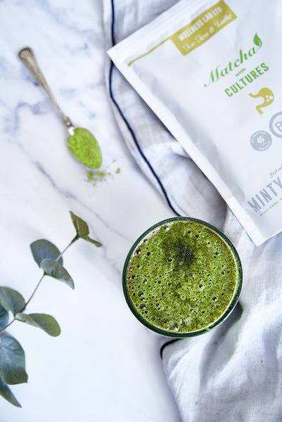 A Refreshing Mint Matcha Latte - By Emma