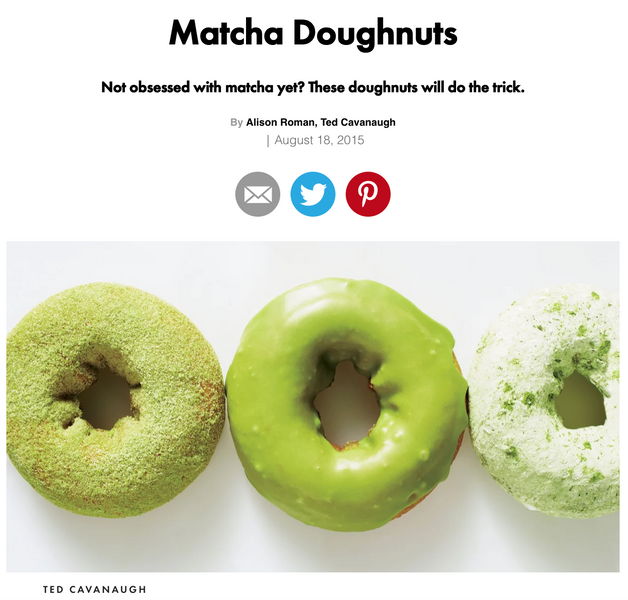 Matcha powder for baking doughnuts!