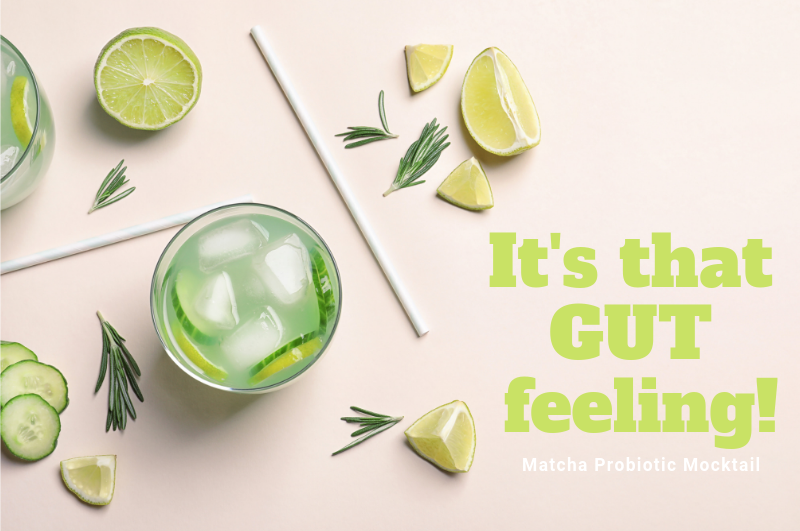matcha probiotic moctail wellness lab