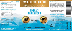 Omega 3 Cod Liver Oil | Norwegian & Icelandic Cod - Wellness Lab Ltd