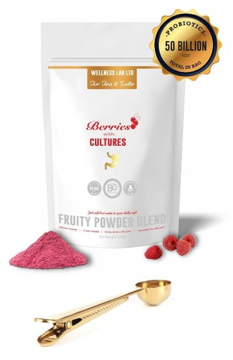 Berry Probiotics & Golden Clip Spoon - Wellness Lab Ltd