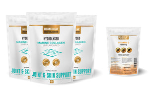 3x Marine Collagen Pouches + Vitamin C - Wellness Lab Ltd
