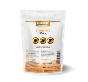 Vegan Vitamin C 1000mg | 90 tablets | 3 months - Wellness Lab Ltd