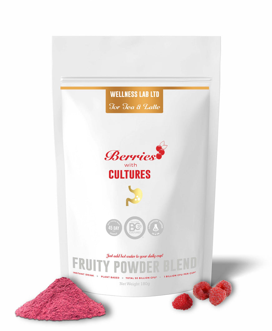 Fruity Berry Latte with Probiotics - Wellness Lab Ltd