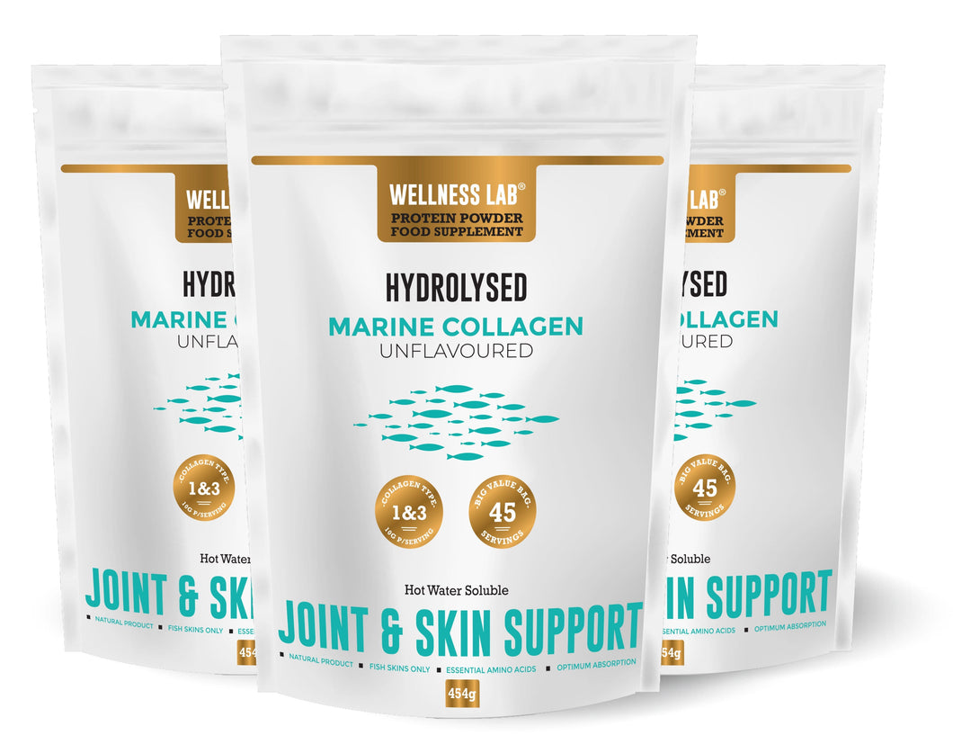 3x POUCH Marine Collagen Powder - Wellness Lab®