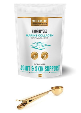 Marine Collagen Pouch & Gold Clip Spoon - Wellness Lab Ltd