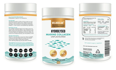 3x TUBS Marine Collagen Powder
