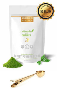 Matcha  Latte & Gold Clip Spoon - Wellness Lab Ltd