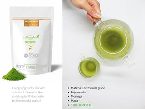 Matcha Probiotics & Golden Clip Spoon - Wellness Lab Ltd