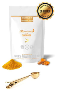 Turmeric Latte & Gold Clip Spoon - Wellness Lab Ltd