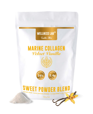 Velvet Vanilla Latte with Marine Collagen - Wellness Lab Ltd