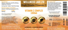Vegan Vitamin C | High Grade 1000mg | 90 tablets | 3 months - Wellness Lab Ltd