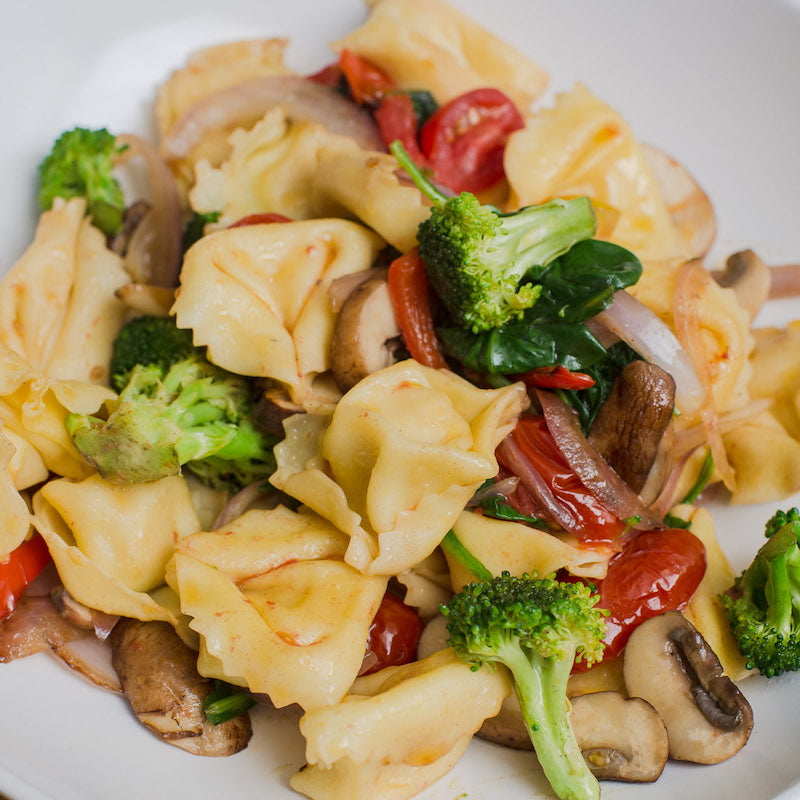 Cheese Tortellini Pasta With Vegetables