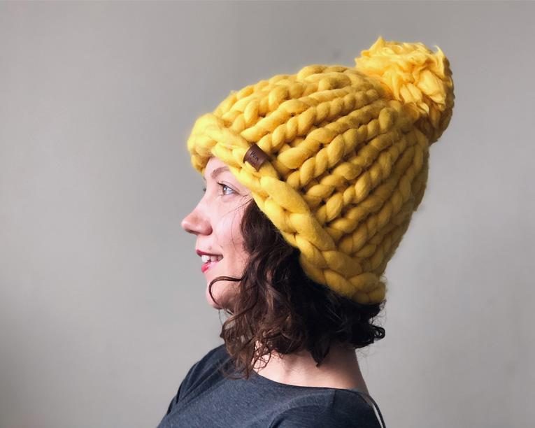 Super Chunky Hat Pattern - Learn How to Knit Helsinki Hat  81b5d72aee9
