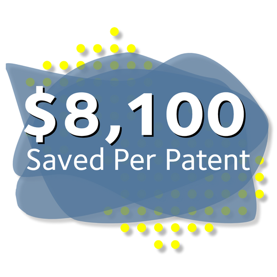SAVING YOU A Total Value of $8,100 PER PATENT