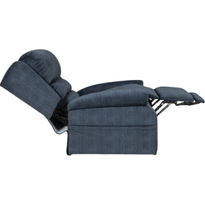 Mega Motion NM2750 Three-Position Lift Chair w/Power Headrest - Denim-Three-Position Lift Chair-Mega Motion-Performance Fabric w/Heat & Massage-Freedom Lift Chairs