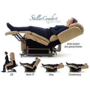 UltraComfort UC550-L Stellar Comfort Large Scale Zero Gravity Lift Chair - Silt (White Glove Delivery)