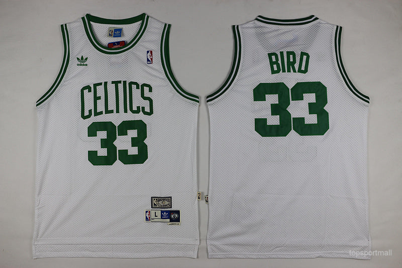 detailed pictures f946b 4d536 Boston Celtics White Larry Bird Jersey