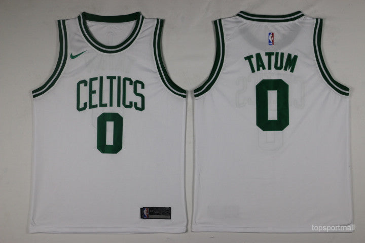 best service 13d40 c3ae8 Youth Boston Celtics White Jayson Tatum Jersey