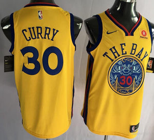 promo code c14dc 0de36 Golden State Warriors Steph Curry The Bay Jersey
