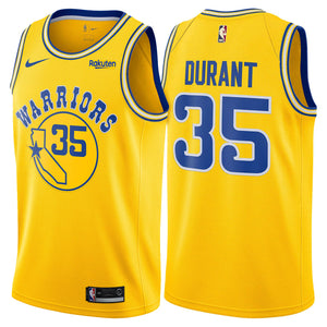 low priced 87699 bec6e Golden State Warriors Kevin Durant Throwback Yellow Jersey