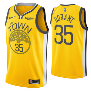 size 40 a2dc7 0d0bc Golden State Warriors Kevin Durant The Town Yellow Jersey